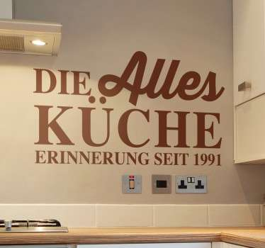 Persönlicher Küchen Sticker