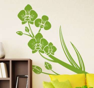Green Orchids Sticker