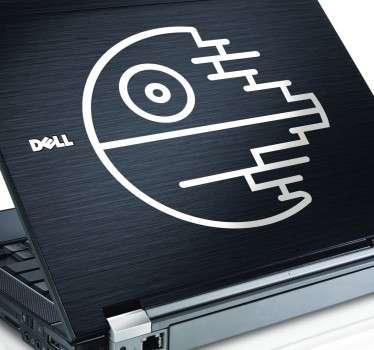 Sticker ordinateur etoile noire