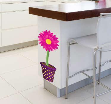 Blumentopf Sonnenblume Aufkleber