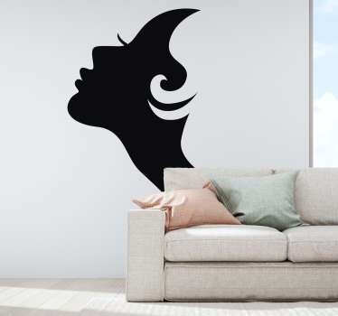 Short Hair Lady Wall Sticker