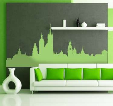 Check out this awesome skyline sticker that has Krakow on it. It is available in over 45 different colors. Easy to apply.