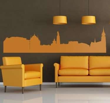 Autocolante decorativo skyline Lodz
