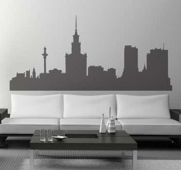Autocollant skyline Varsovie