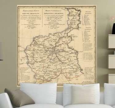 Polen Karte 1820 Aufkleber