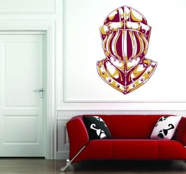 Spectacular decorative sticker with a great design of a medieval knight's helmet.