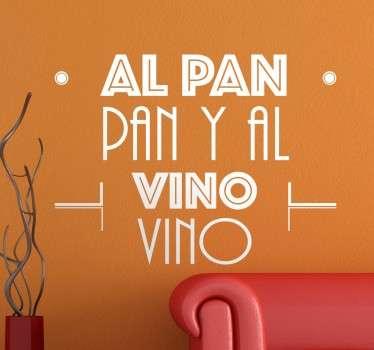 Vinilo original con uno de los refranes más populares de la cultura española.
