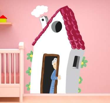 Vinilo decorativo casa de la abuela