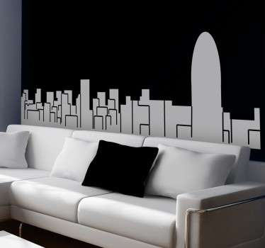 Vinil decorativo skyline de Barcelona