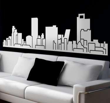 Skyline Madrid Aufkleber