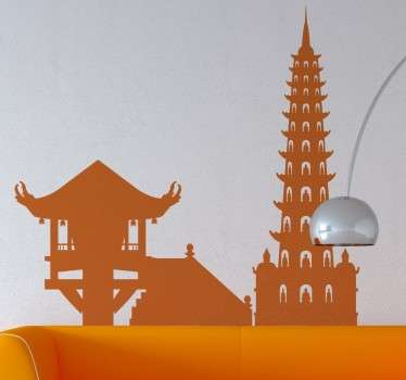 A spectacular design illustrating the skyline of Vietnam's capìtal. This skyline decal is ideal for those that love architecture and rich cultures.