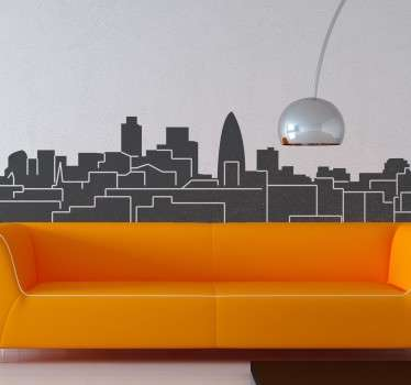 A splendid design illustrating England's capital! Decorate your home with a fantastic skyline sticker of London!