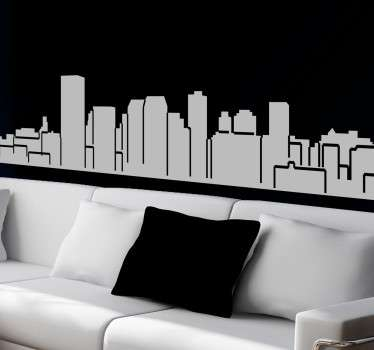 A design illustrating Manchester's skyline. You can decorate your home with this skyline sticker and enjoy the fantastic building in Manchester.