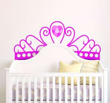 Kinderkamer muursticker prinsessen kroon