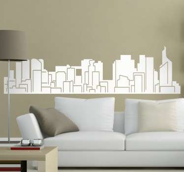 Paris wall decal with a representation of the architectural profile of the French capital.