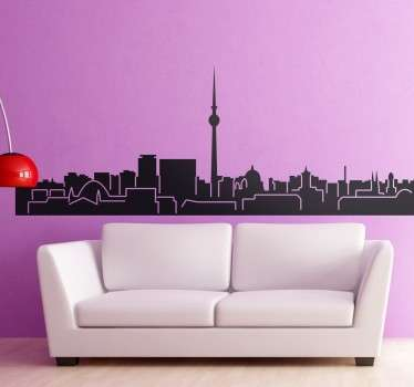 Berlin Skyline Sticker