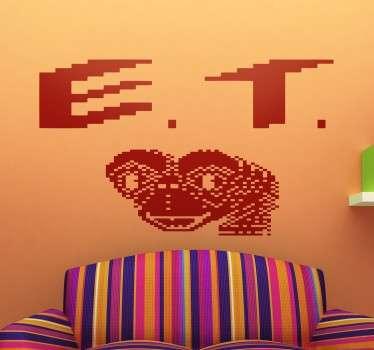 Vinilo decorativo portada ET Atari