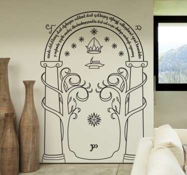 A fantastic design illustrating The Doors of Durin, also known as West-door of Moria. An ideal decal for those fans of The Lord of the Rings.