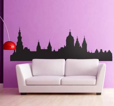 Amsterdam Skyline Sticker