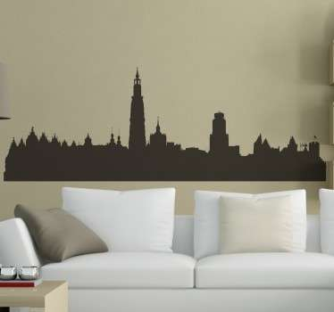 Sticker décoratif skyline Anvers