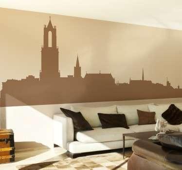 Skyline stad Utrecht Nederland sticker