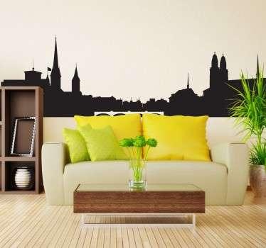 Naklejka panorama Zurychu