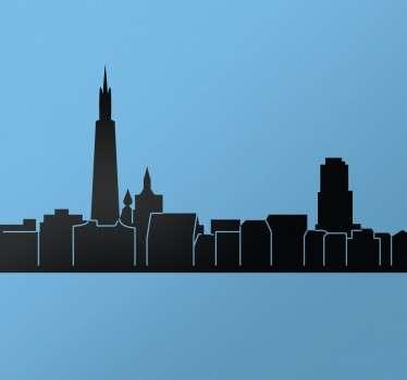 Skyline Antwerpen Muursticker