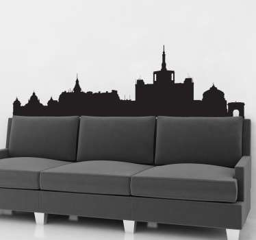 Vinil decorativo skyline Bucareste
