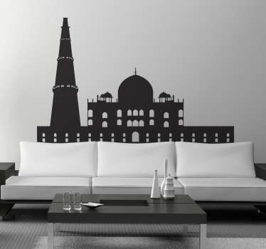 A spectacular design illustrating India's capital! This skyline decal of Delhi is ideal to give your home a new and fresh atmosphere.