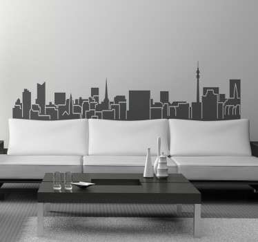 Vinil decorativo skyline Dortmund