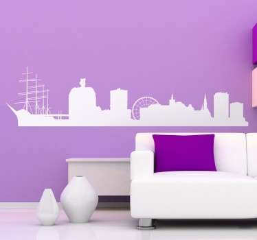 Skyline de Gotemburgo (en sueco Göteborg) ahora disponible en vinilo para decoración.