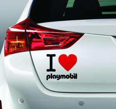 Sticker deorativo I love playmobil