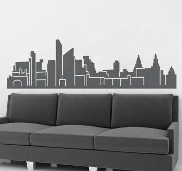 An interesting skyline decal of Liverpool. If you are from Liverpool or love this city then this monochrome skyline is for you.