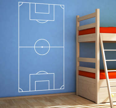 Football pitch wall sticker available in 48 different colours to give a personalised touch to your walls, from our sports wall stickers collection. Show off your love of soccer by personalising  your child's bedroom with this durable vinyl decal.