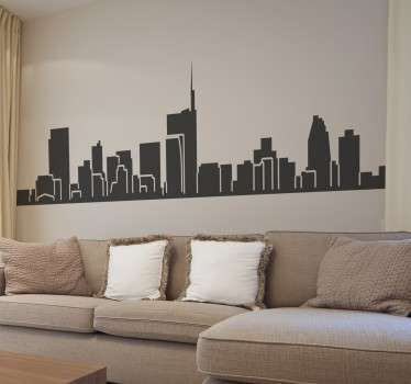 Vinil decorativo skyline Milão