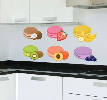 Macarrons fruit smaak sticker