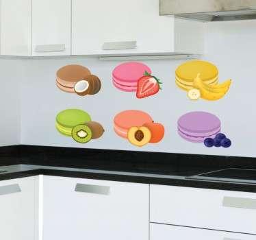 Flavoured Macaroons Sticker