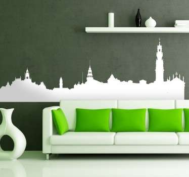 Porto Skyline Sticker