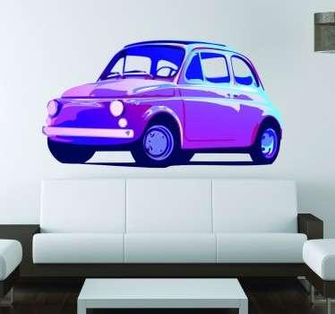 Alter Fiat 500 Wandtattoo