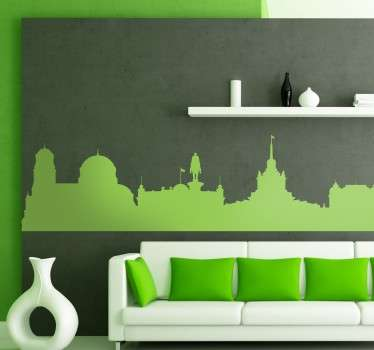 Sofia Bulgaria Skyline Sticker
