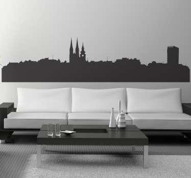Zagreb Skyline Decal