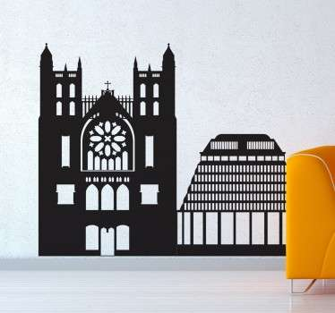A silhouette design of famous buildings in New Zealand. A fantastic landscape wall sticker for those that love skylines.