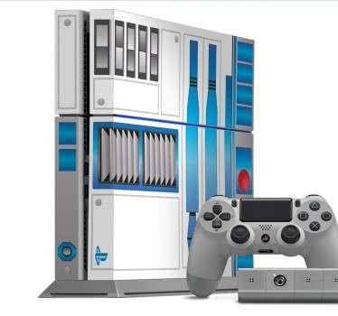 Naklejka na PS4 R2D2