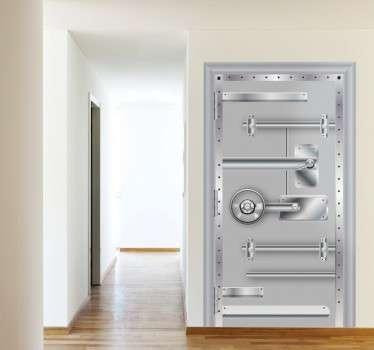 Naklejka żelazne drzwi