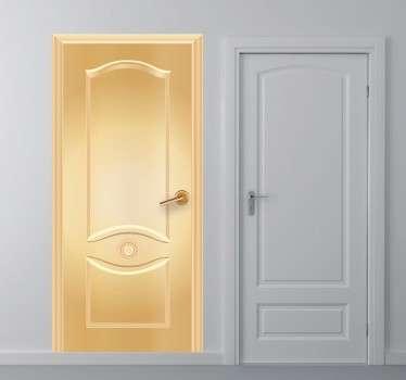 Vinil decorativo porta dourada