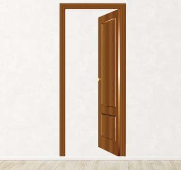 3D Wandtattoo Falsche Tür