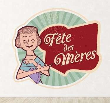 Sticker fête des mères rétro