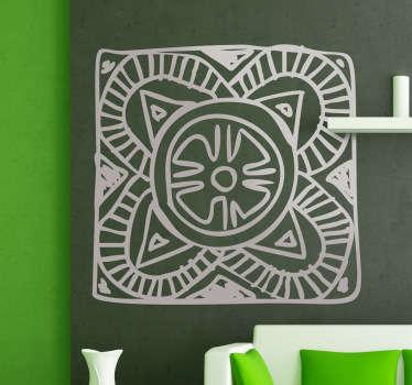 Sticker mosaïque géométrique