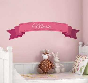 Personalizat sticker de perete pentru panglici pentru copii