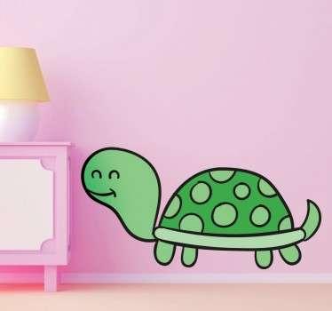 Illustration Schildkröte Wandtattoo